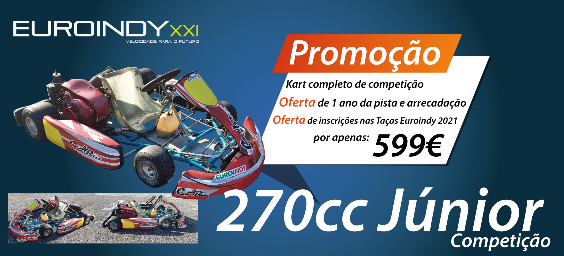 Kart 270cc Júnior de Competição C.A.Racing